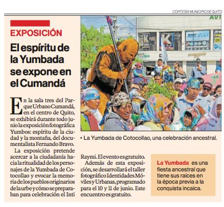 """Reportaje """"El Comercio"""""""