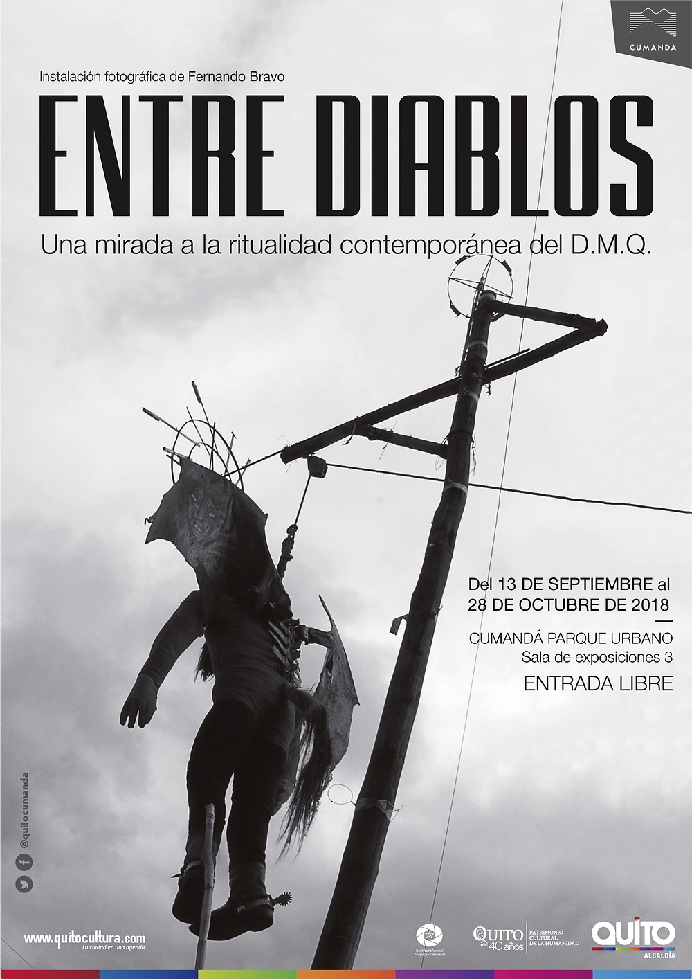 "Afiche de la muestra fotográfica ""Entre Diablos"""