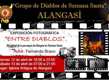 """La instalación fotográfica """"Entre Diablos"""", llega a su lugar de origen."""