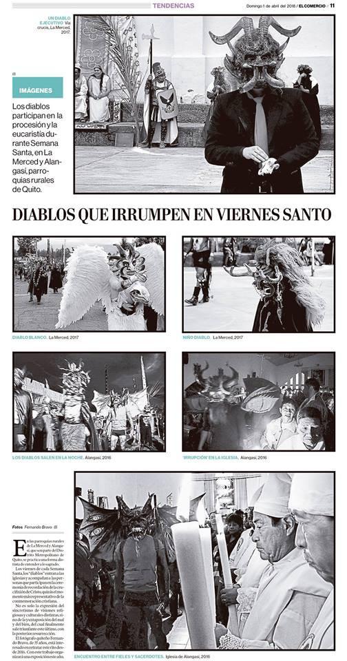 Reportaje fotográfico publicado en diario El Comercio