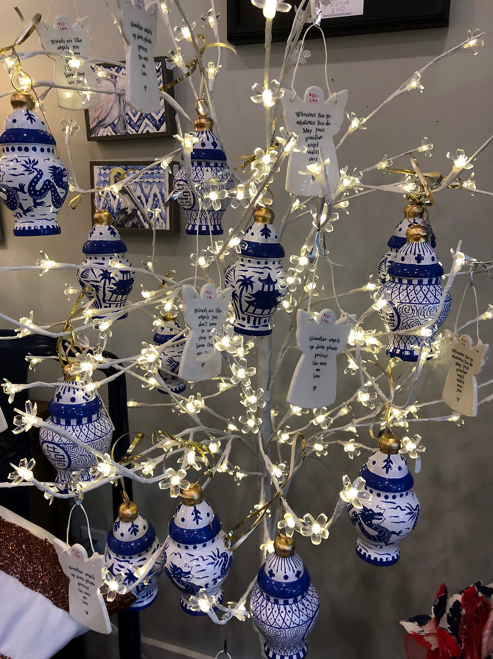 Blue And White Ginger Jar Ornaments