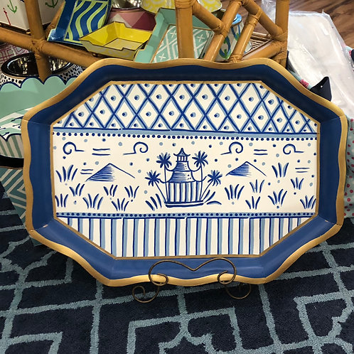 Hand Painted Pagoda Tray