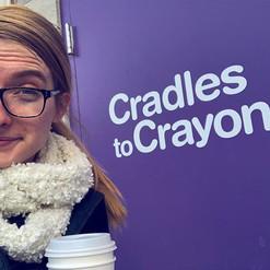 JOY is serving at #CradlestoCrayons toda