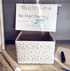 This month, JOY is collecting toiletries