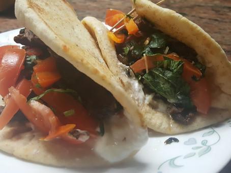 Beef Shawarma sandwich Iraqi style