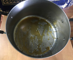 pot with olive oil