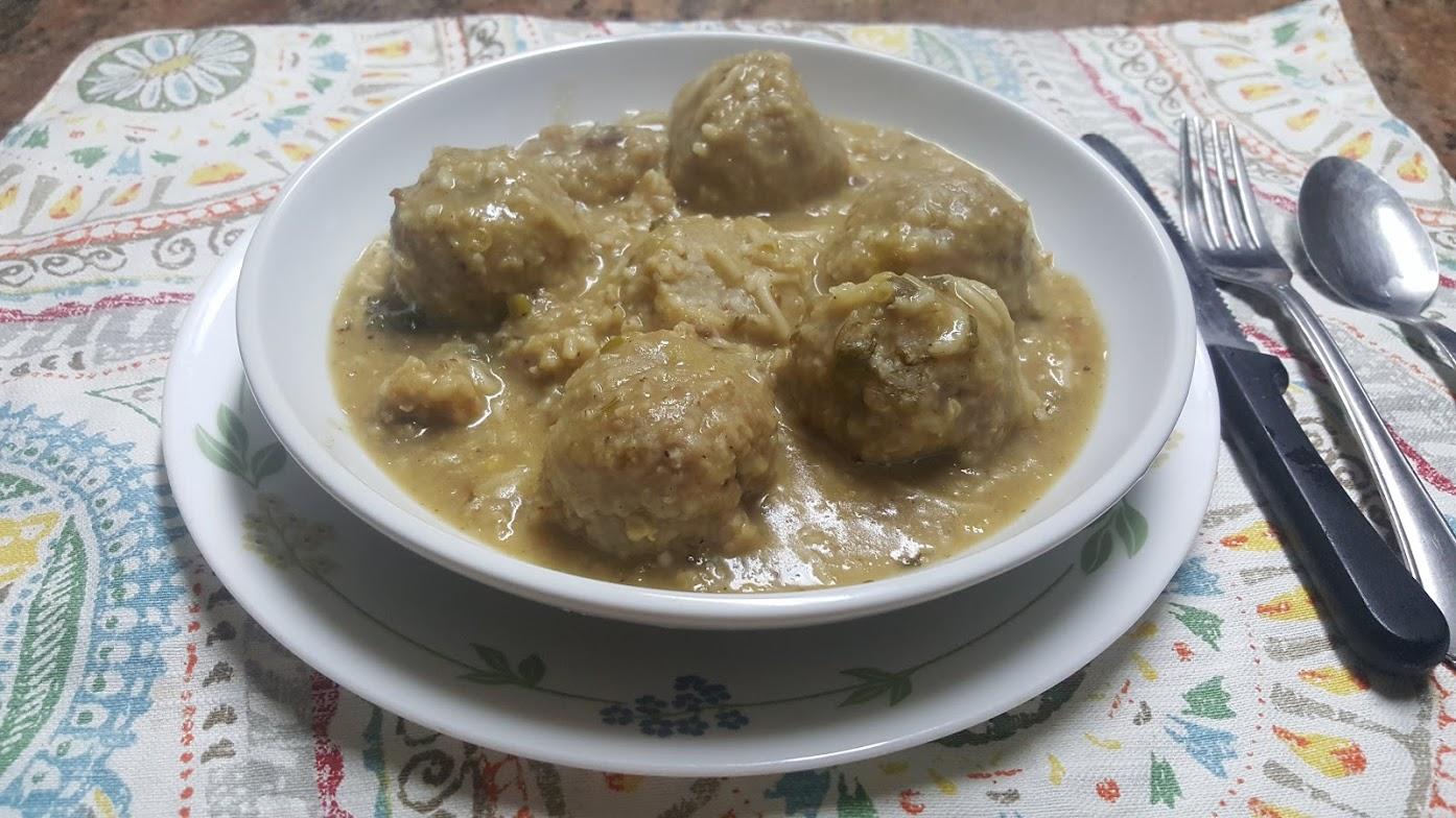 Kubba Brughul with lentil Soup