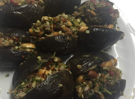 Makdous Stuffed Eggplants