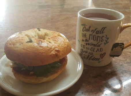 Energy Breakfast Bagel Sandwich