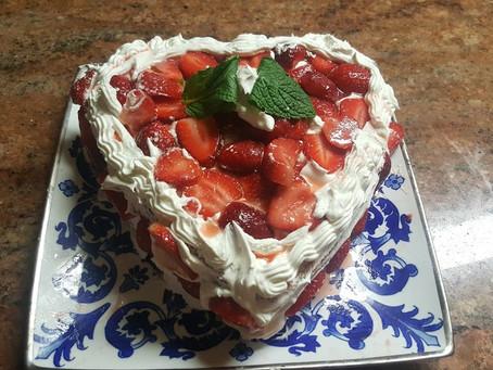 Kaykat Al-Andalus (Al-Andalus cake) Strawberry Cake