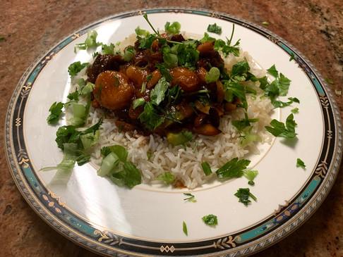 Torshana or Qaysi (Dried Apricots & Prunes) stew: A rich sweet & sour dish