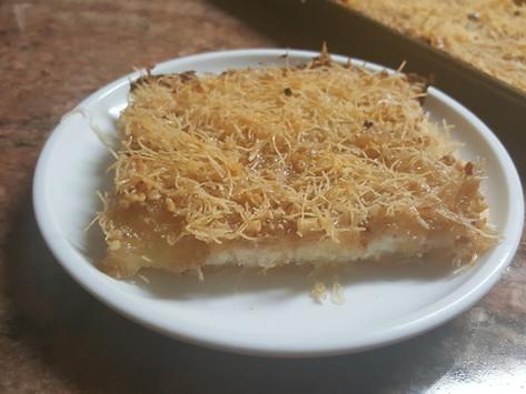 Kunafa with Ricotta Cheese and Walnuts