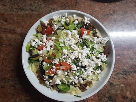 Hummus Minced Meat Salad