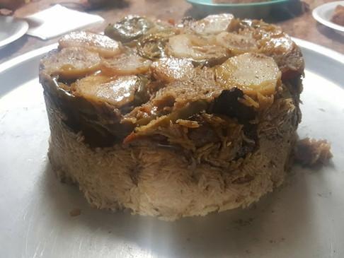 Baghdadi Makluba– Upside-Down Chicken & Rice Meal
