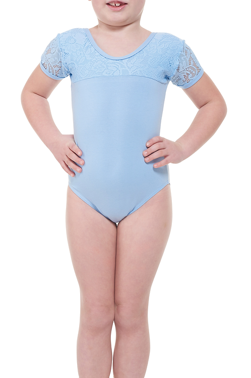 Capped Sleeves Leotard (Without Skirt)