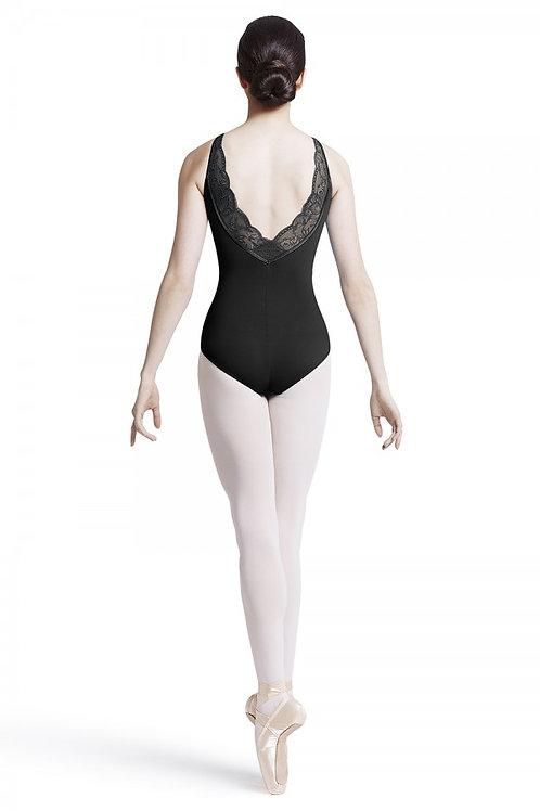 Mirella M2113LM Black Lace Scoop Back Camisole
