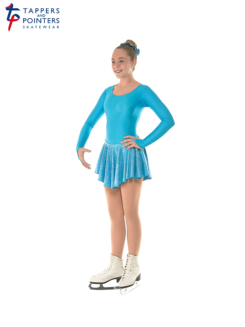 Skating Dress With Round Scoop Neck