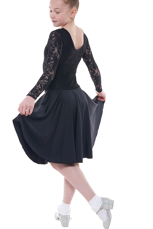 Long Sleeve Dress Lace Overlay Standard Length