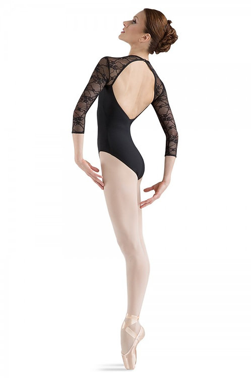 Bloch L6016 Black Large 3/4 Sleeve