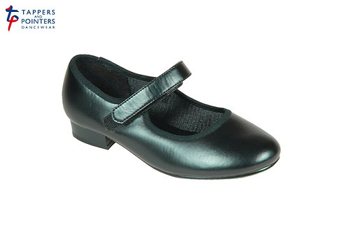 Tap Shoe - Velcro Fastening Low Heel PU (Toe Taps Only)