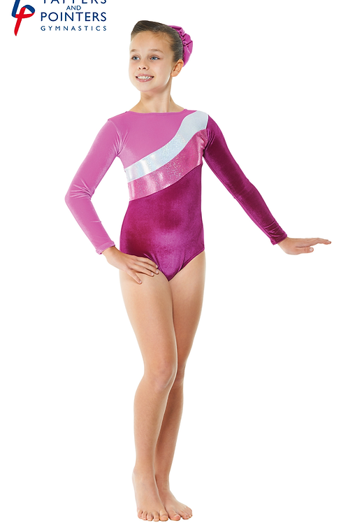 Gym/16 Velvet And Foil Leotard