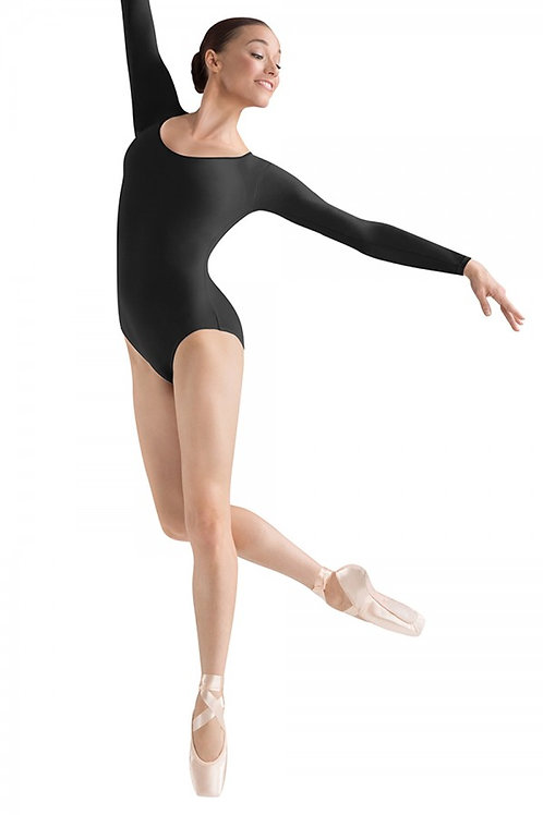 Bloch L5609 Black Large Long Sleeve Leotard