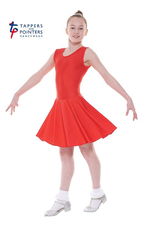 Sleeveless Plain Front Dress Latin Length