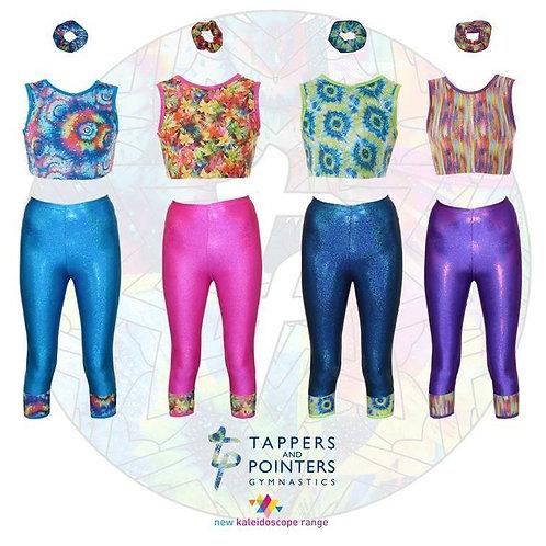 Gymnastics Set - Capri Pants, Crop Top, Free Scrunchie!