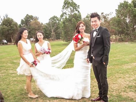 Marriage Ceremonies Melbourne - Outdoor Wedding by Marie Kouroulis