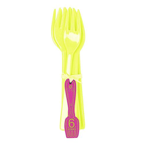 Funky Neon vorkjes geel/groen Ginger Lifestyle