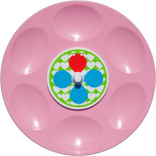 Mangigi draaischijfbordje roze