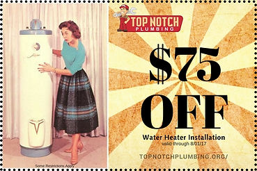 Top Notch Plumbing Pine Bush Water Heater Installation Coupons