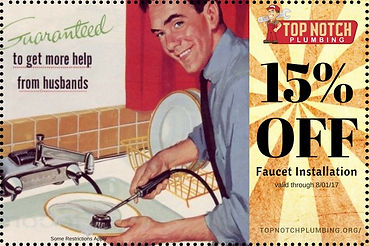 Top Notch Plumbing faucet Installation coupons