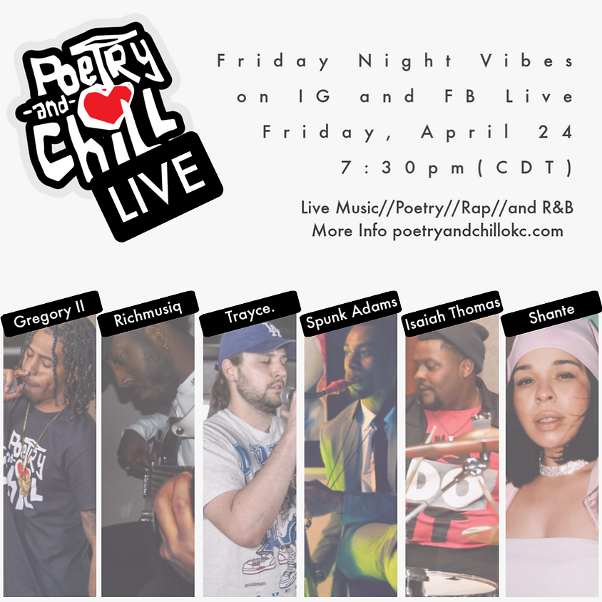 Poetry and Chill Friday Night Vibes Live