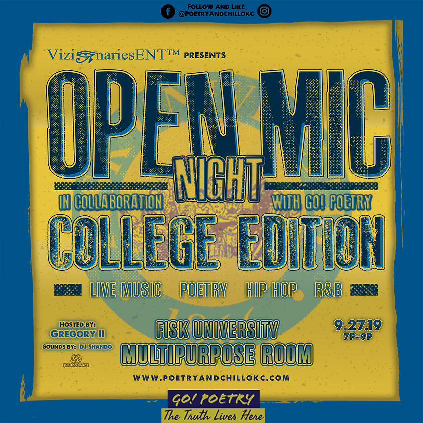 """Poetry and Chill OKC College Tour """"Fisk Uni"""""""