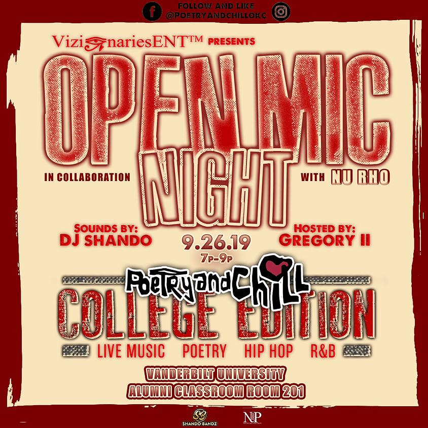 "Poetry and Chill OKC College Tour ""Vanderbilt Uni"""