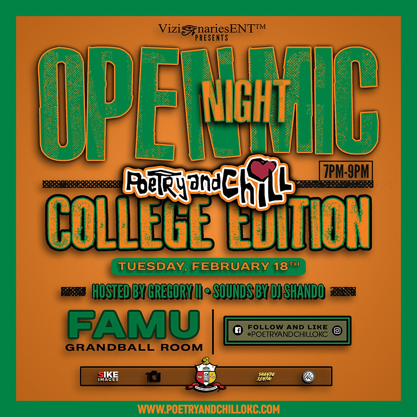 """Poetry and Chill College Tour """"FAMU"""""""
