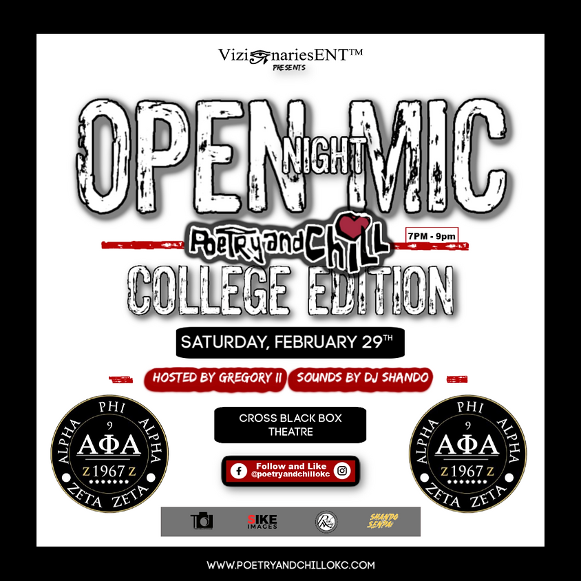 """Poetry and Chill College Tour """"OU"""""""