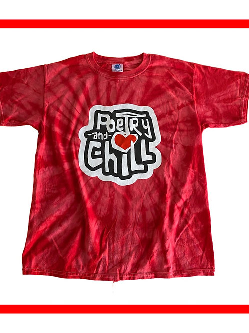 Limited Edition Poetry and Chill Tie Dye Youth Shirt
