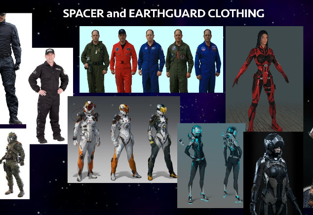 Spacer clothing inspirational art