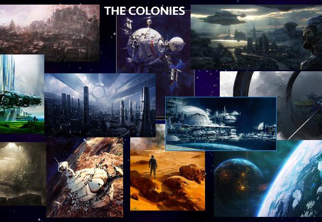 Colonies inspirational art