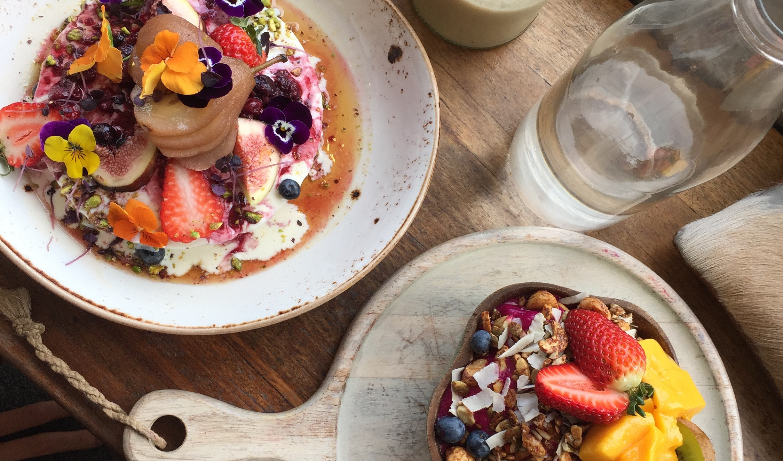 Pancakes and Acai bowl