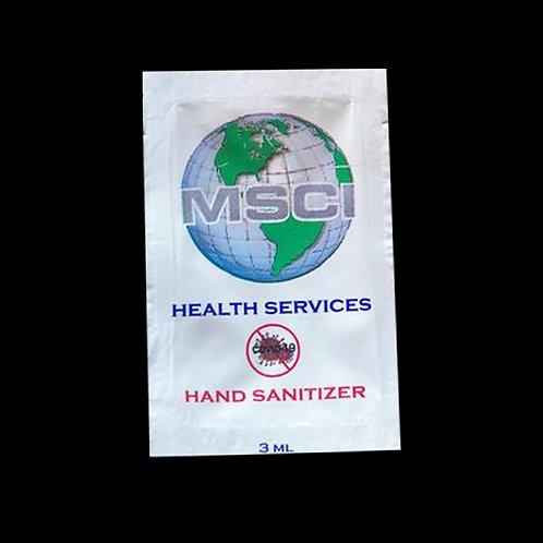 3 ml hand sanitizer foils