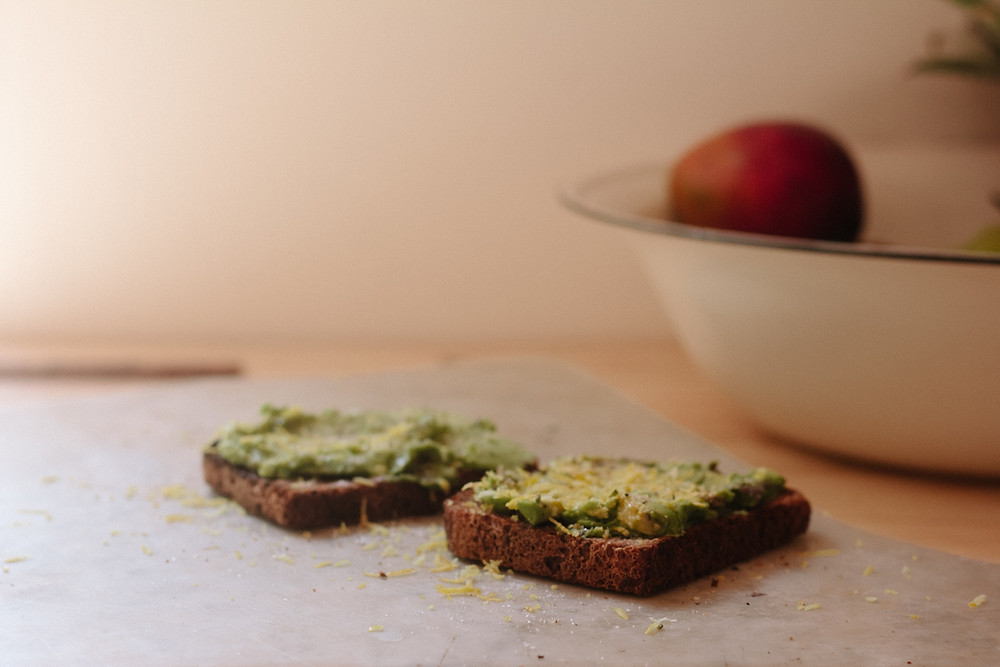 Avocado and Egg paste on toast