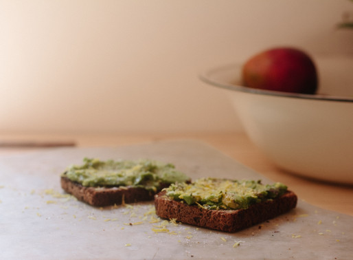 Breakfast - Avocado on Rye Toast