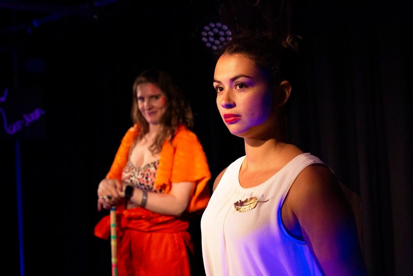 Daniella Piper as Pentheus; Erica Martin