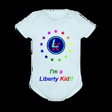 the liberty kid onesie with rainbow stars!