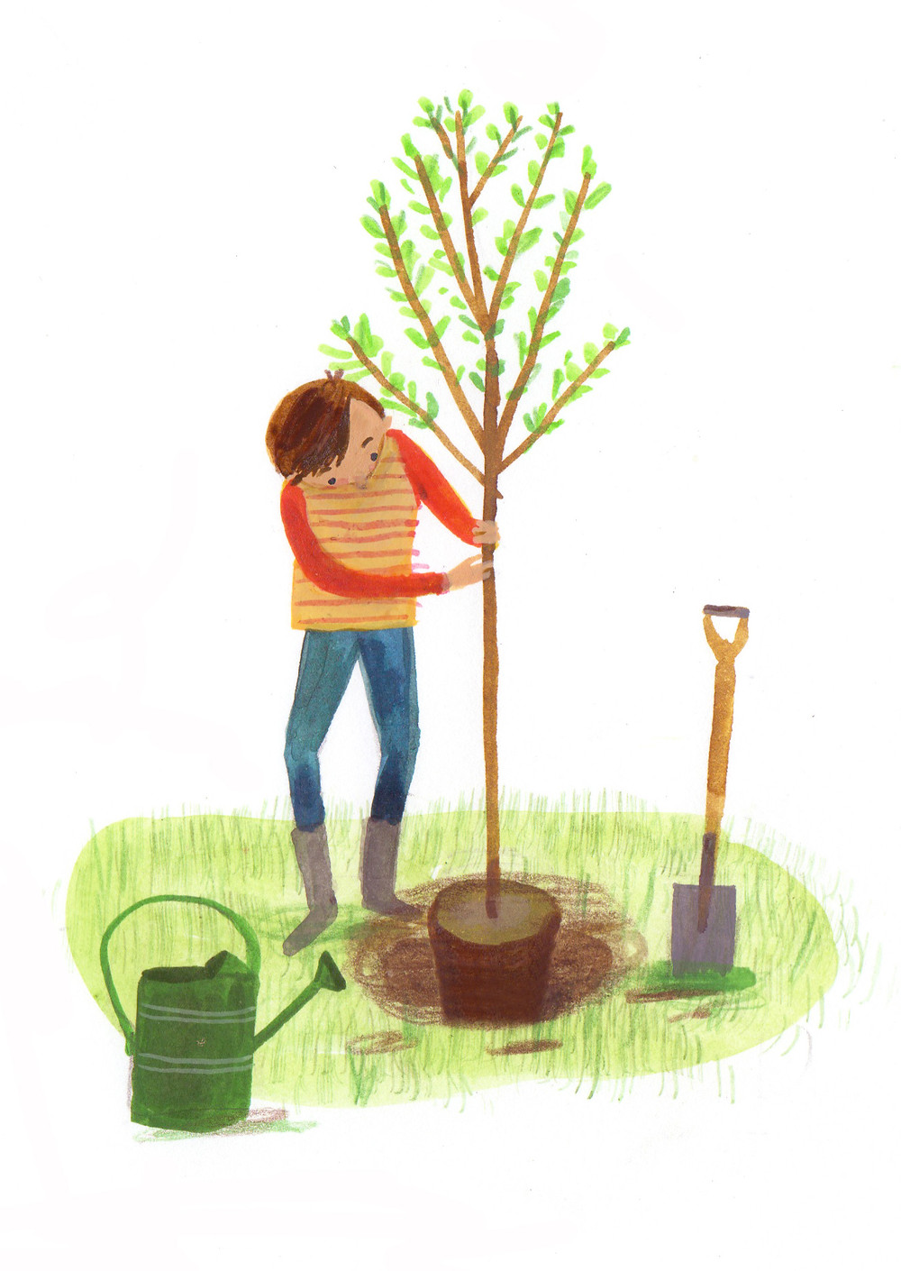 What's Alec doing now? Planting a tree!