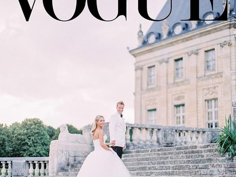 VOGUE PARIS FEATURE REAL WEDDING of JEN + SIMON                       PARIS CHATEAU VAUX LE VICOMTE