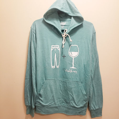 Sweatpants and Wine Lightweight Tri-Blend Hoodie